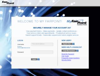 myfairpoint.com screenshot