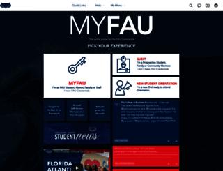 myfau.fau.edu screenshot