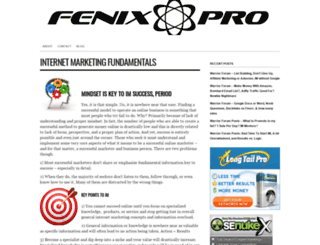 myfenixpro.com screenshot