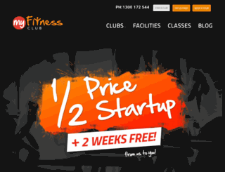 myfitnessclub.com.au screenshot