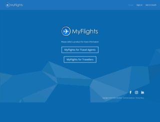 myflightsapp.com screenshot