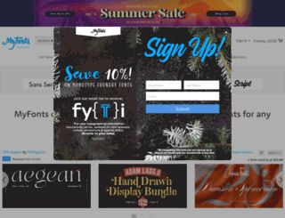 myfonts.com screenshot