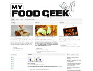 myfoodgeek.com screenshot