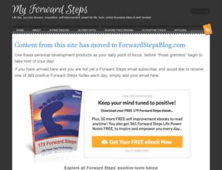 myforwardsteps.com screenshot