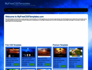 myfreecsstemplates.com screenshot
