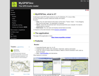 mygpsfiles.com screenshot