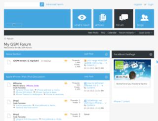 mygsmforum.com screenshot
