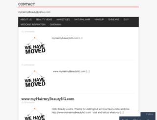 myhairmybeautynigeria.com screenshot