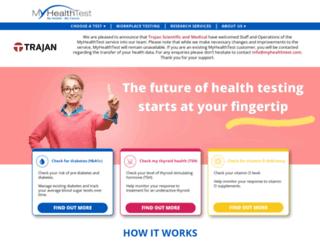 myhealthtest.com screenshot
