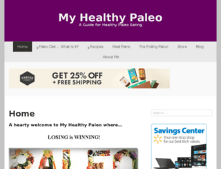 myhealthypaleo.com screenshot