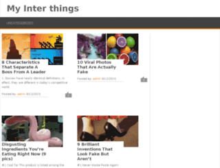 myinterthings.com screenshot