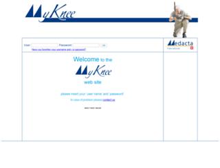 myknee.medacta.com screenshot