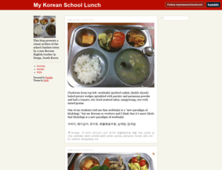 mykoreanschoollunch.tumblr.com screenshot