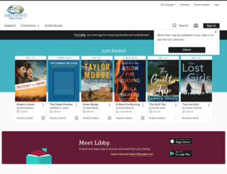 mylakelibrary.lib.overdrive.com screenshot