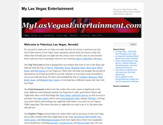 mylasvegasentertainment.com screenshot