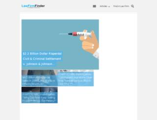 mylawfirmfinder.com screenshot