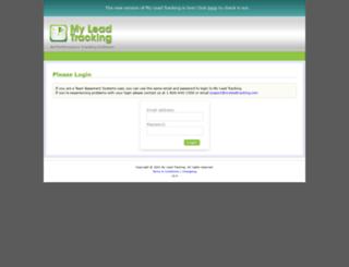 myleadtracking.com screenshot