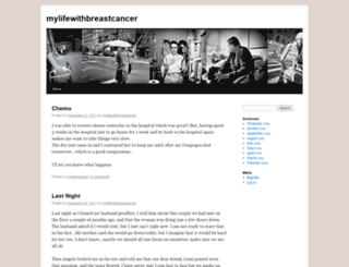 mylifewithbreastcancer.wordpress.com screenshot