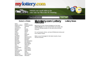 mylottery.com screenshot