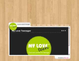 myloveteenager.com screenshot