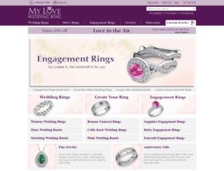 myloveweddingring.com screenshot
