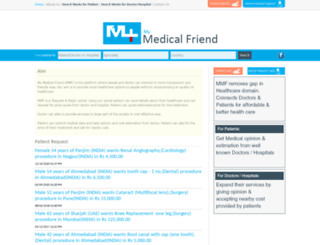 mymedicalfriend.com screenshot