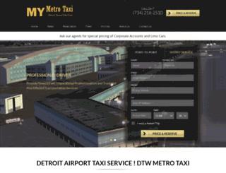 mymetrotaxi.com screenshot