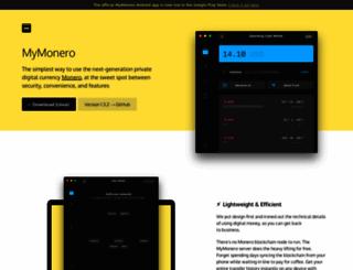 mymonero.com screenshot