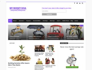 mymoneydiva.com screenshot