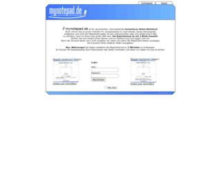mynotepad.de screenshot