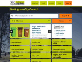 mynottingham.gov.uk screenshot
