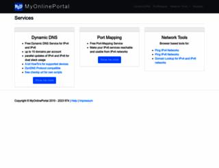 myonlineportal.net screenshot