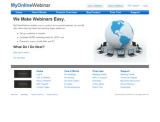 myonlinewebinar.com screenshot
