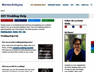 myonlineweddinghelp.com screenshot