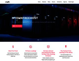 myownfreehost.net screenshot