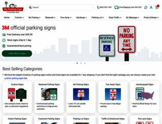 myparkingsign.com screenshot