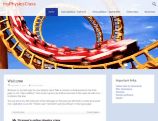 myphysicsclass.org screenshot