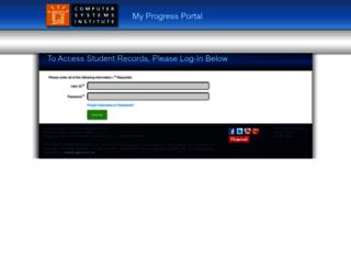 myprogress.csinow.edu screenshot