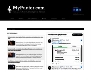 mypunter.com screenshot