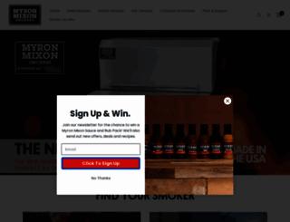 myronmixonsmokers.com screenshot