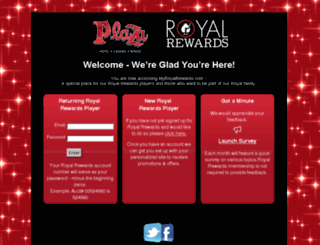 myroyalrewards.com screenshot