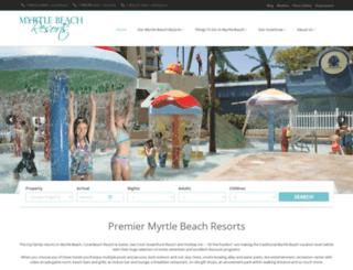myrtlebeach-resorts.com screenshot