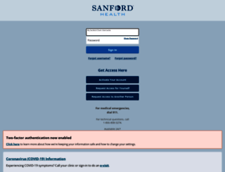 mysanfordchart.org screenshot