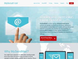 mysendmail.com screenshot