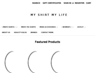 myshirtmylife.com screenshot