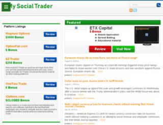mysocialtrader.com screenshot