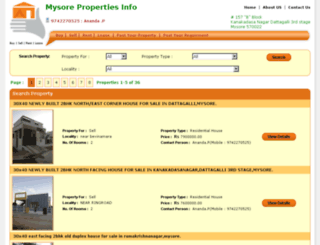mysorepropertiesinfo.com screenshot
