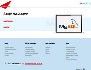 mysql.active24.cz screenshot