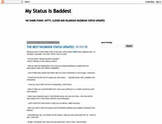 mystatusisbaddest.com screenshot