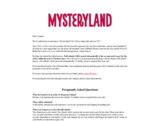 mysteryland.us screenshot